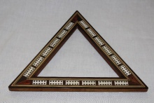 Edwardian Triangular Cribbage Board - etcb85