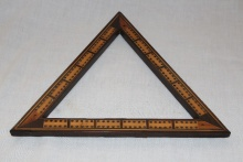 Victorian Triangular Cribbage Board