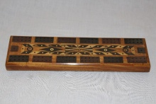Satinwood Parquetry Cribbage Board - SPC110