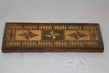 Rosewood Parquetry Cribbage Board