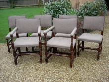 Set of Six 'Maple' (Makers) Oak Dining Chairs