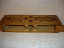 Vintage Walnut Cribbage Board - VWC50