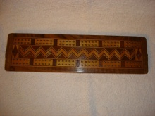 Edwardian Walnut Cribbage Board - EWCB45