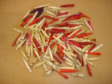 Bone Cribbage Pegs Price For Each Peg ONLY FOR SALE WITH BOARDS PURCHASED FROM USHERS