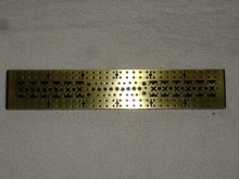 Regency Boulle Brass & Rosewood Cribbage Board - RBBC125