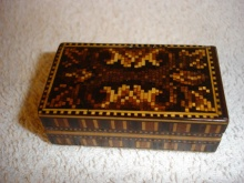 Tunbridge Ware Double Stamp Box - TWD100