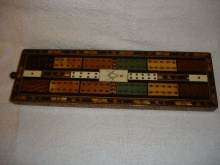 Masonic Cribbage Board Tunbridge Ware Georgian - MCBG225