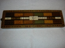 Masonic Cribbage Board Tunbridge Ware Georgian