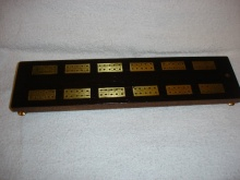 Victorian Rosewood And Brass Cribbage Board - VRC55