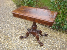 Victorian Rosewood Card Table C. 1860