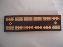 Rosewood Victorian Cribbage Board - RVC70