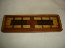 Vintage Walnut Cribbage Board