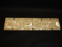 Victorian Mother Of Pearl & Abalone Cribbage Board - VMP115