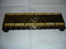 Rosewood & Brass Inlaid William IV Cribbage Board - RBI375
