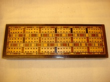 Triple Lane Geometric Inlaid Cribbage Board - TLG60