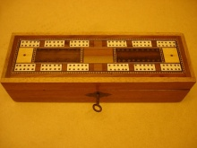 Vintage Inlaid Cribbage Box - VIC80