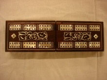 Victorian Folding Rosewood and Mother of Pearl Cribbage Box - VFR195