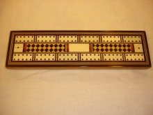 Victorian Cribbage board with chequered inlay - VCC105