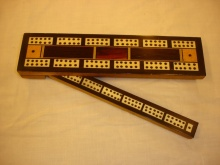 'A. W. Gamage' Labelled Triple Lane Cribbage Board