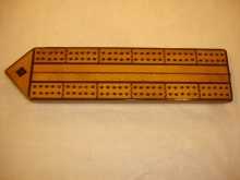 Satinwood Victorian Cribbage Board