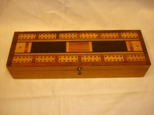 Edwardian Inlaid Cribbage Box