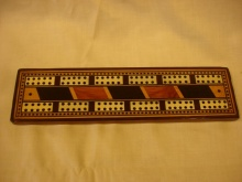 Late Edwardian Cribbage Board - LEC60