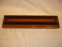 Large Rosewood And Ebony Cribbage Board - LRE85
