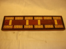 Multi Veneered Vintage Cribbage Board - MVV50