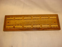 Vintage Veneered Cribbage Board - VVC30