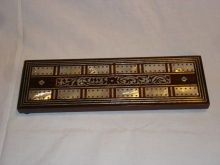 Large Victorian Rosewood & Mother Of Pearl Cribbage Board - LVR220