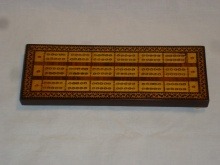 Geometric Tunbridgeware Triple Lane Cribbage Board - GTT100