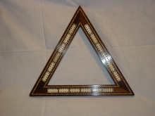 Edwardian Triangular Triple Laned Cribbage Board - ETT90
