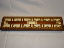 Huge Inlaid Fancy Cribbage Board - HIF125