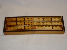 Triple Lane Traveling Cribbage Box