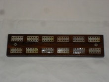 Victorian rosewood and mother of pearl Cribbage Board - VSM95