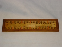 Vintage Veneered Cribbage Board - VVC35