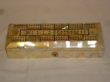 Fantastic Victorian Mother of Pearl Cribbage Box - FMP325