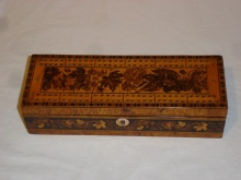 Circa 1845 Tunbridgeware Cribbage Box Retailed By 'Childs & Son'  - CTC450
