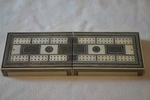 Indian Sadeli Folding Cribbage Board