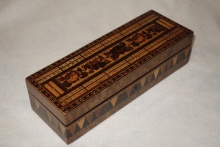 Victorian Tunbridge Ware Cribbage Box  - VTW325