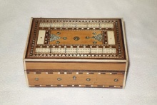Indian Sadeli Cribbage Box  - ISC160