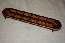 Early Victorian Tulipwood Cribbage Board - EVT110