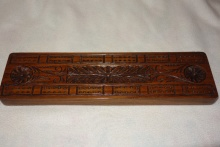 Anglo/Indian Heavy, Carved Cribbage Board - AIH90