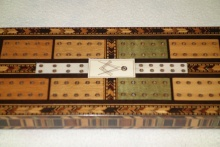 Regency Tunbridge Ware Masonic Cribbage Board - RTW275