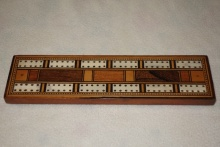 Edwardian Inlaid Cribbage Board - EIB75