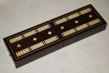 Victorian Rosewood Folding Cribbage Board