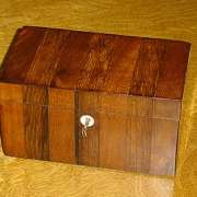 Cross Banded Twin Tea Caddy C.1870 - CC47