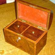 Dome Topped Twin Tea Caddy C. 1845 - CC32