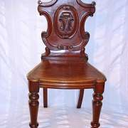 Early Victorian Mahogany Hall Chair C. 1850 - AF15