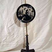 Ebonised Victorian Fire Screen C. 1860 - AF01